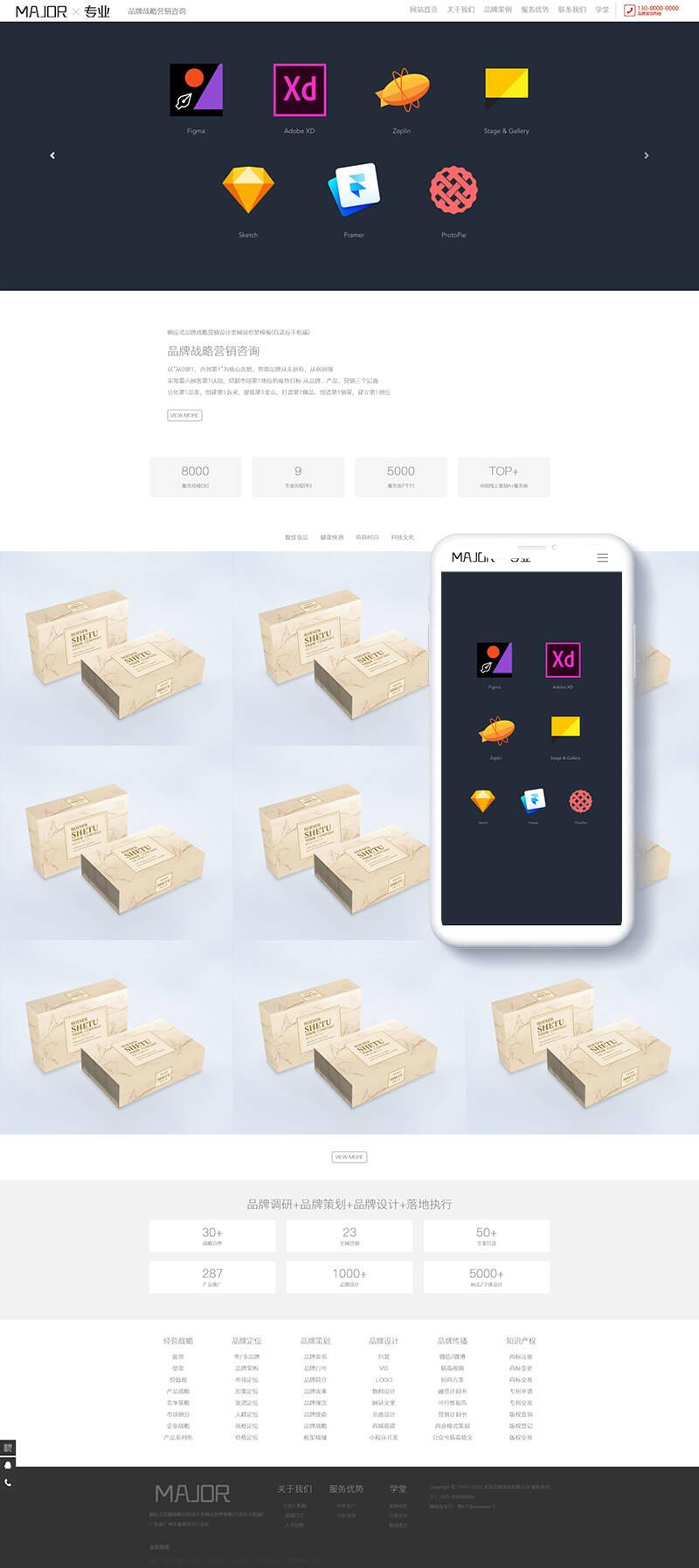 D84【织梦模板】dedecms织梦模板源码品牌策略营销推广设计网站模板[含手机移动版]